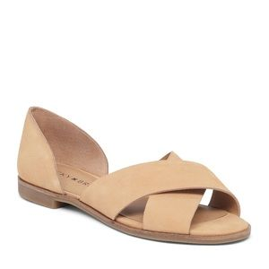 Lucky Brand Gallah D'orsay Flat Tan Size 7